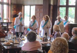 Previously presented by (left to right) Erna Hoover, Susan Kogan, Janice Harris Jackson, Shelly Ostrowski, and Hedy Tukey (narrator). Leslie Carson (narrator) not shown of the Summit Branch